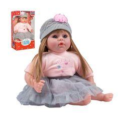PLAYTO Česky hovoriaca a spievajúca detská bábika PlayTo Nina 46 cm Sivá