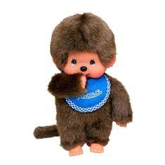 Monchhichi Mončiči Chlapec s modrým podbradníkom 20cm