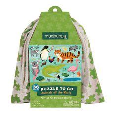 Mudpuppy Puzzle Zvieratá sveta 36ks vo vaku