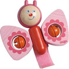 HABA Hrkálka Motýlik drevená