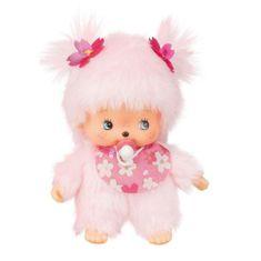 Monchhichi Bebiči dievča ružové s cumlíkom 15cm