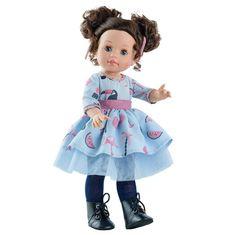 Paola Reina Bábika Soy Tú Emily v modrých šatách 42cm