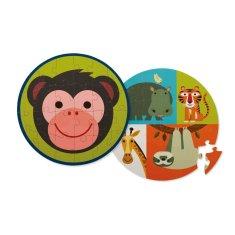 Crocodile Creek Puzzle obojstranné Opica a jej priatelia 24ks