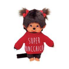 Monchhichi Mončiči dievča v červenej mikine 20cm