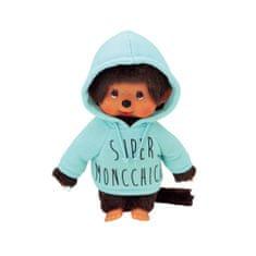 Monchhichi Mončiči chlapec v zelenej mikine 20cm
