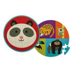 Crocodile Creek Puzzle obojstranné Panda a jej priatelia 24ks