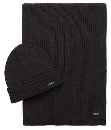 Calvin Klein Set čiapky a šály Basic Gift pack Beanie + Scarf Black