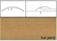 Dimex Prechodové lišty narážacie A65, 5 x 93 cm - buk jasný