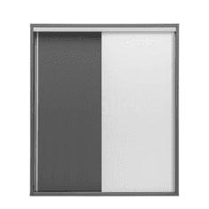 Vysoká komoda, sivá grafit/biela, MARSIE M