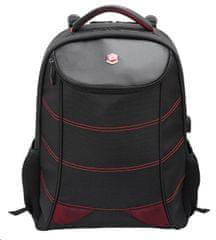 BESTLIFE Snake Eye ruksak za 17″ (43,2 cm) prijenosna računala BL-BB-3332R, crno-crvena