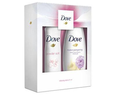 Dove darilni set Relaxing Care (gel za prhanje + deodorant v spreju)