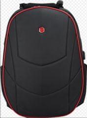 """BESTLIFE Batoh Assailant na 17"""" notebook BL-BB-3331R, čierny/červený"""