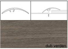 Dimex Prechodové lišty narážacie A65, 5 x 93 cm - dub verden