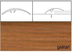 Dimex Prechodové lišty narážacie A65, 5 x 93 cm - gaštan japonský