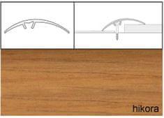 Dimex Prechodové lišty narážacie A65, 5 x 93 cm - hikora