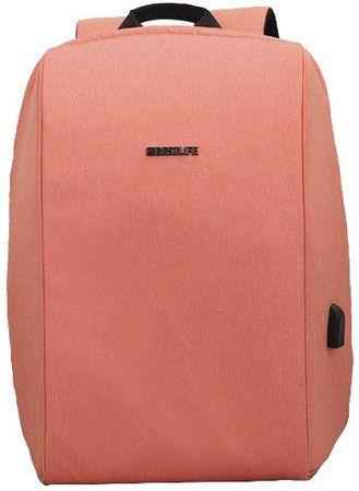 BESTLIFE potovalni nahrbtnik Travel Safe BL-BB-3456PI, 15,6″/39,62 cm, predel za prenosnik, roza