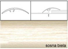 Dimex Prechodové lišty narážacie A65, 5 x 93 cm - sosna biela