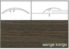 Dimex Prechodové lišty narážacie A65, 5 x 93 cm - wenge kongo
