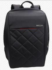 """BESTLIFE Batoh Travel Safe na 15,6""""notebook BL-BB-3456BK-2, čierny / červený"""