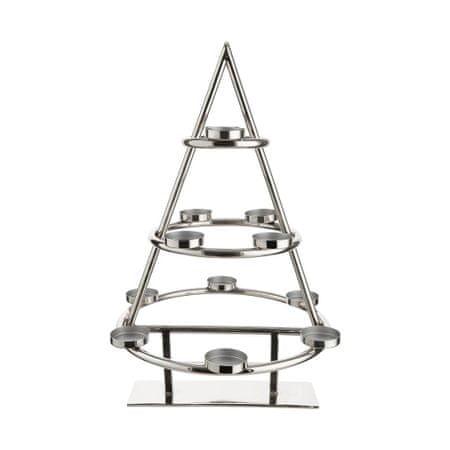 Butlers Kovový vánoční stromek s 12 svícny