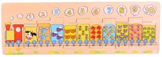 TOP BRIGHT Vkládací puzzle Vláček se zvířátky