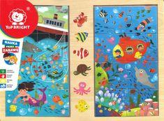 TOP BRIGHT Dřevěné puzzle Oceán 2x8 dílků