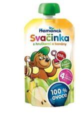Hamánek Kojenecká výživa Svačinka s hruškami a banánem 8x 120g