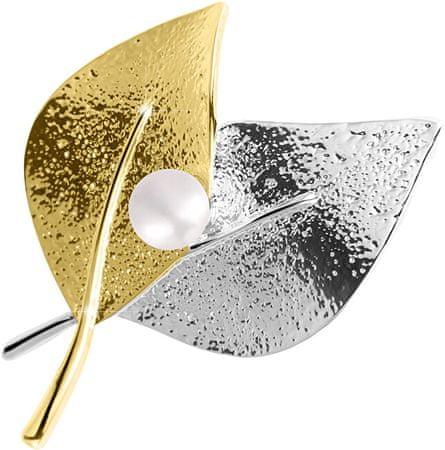 JwL Luxury Pearls A Bicolor bross elhagyja a 2in1-et a jobb gyöngyszemmel, JL0571