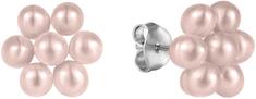 JwL Luxury Pearls Kytičkové náušnice z pravých ružových perál JL0579 striebro 925/1000