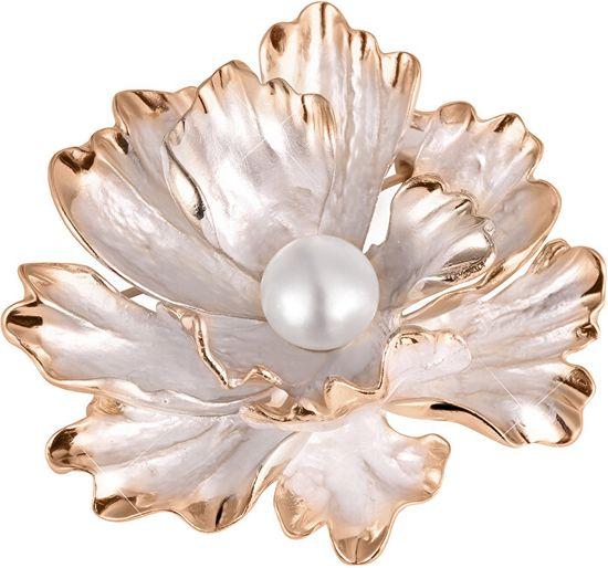 JwL Luxury Pearls Unikátní brož květ 2v1 s pravou perlou JL0573
