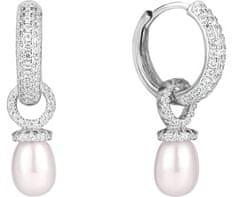JwL Luxury Pearls Ezüst többfunkciós fülbevaló gyűrűk jobb gyöngy és cirkonium JL0592 ezüst 925/1000