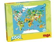 HABA Puzzle Mapa sveta 100ks