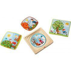 HABA Drevené puzzle Ročné obdobia