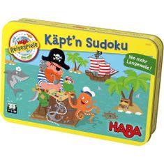 HABA Hra v plechovke Kapitán Sudoku