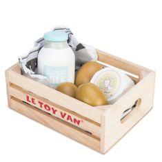 Le Toy Van Drevená debnička Vajcia a mliečne produkty
