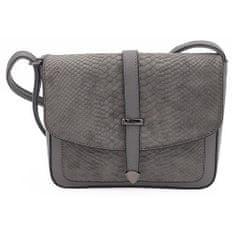 Dámská kabelka listonoška v šedé barvě