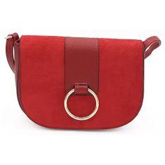 Červená kabelka listonoška