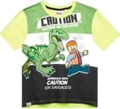TVM Dětské tričko Lego Jurassic Raptor Caution zelené Velikost: 116 (6 let)