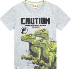 TVM Dětské tričko Lego Jurassic World Raptors šedé Velikost: 116 (6 let)