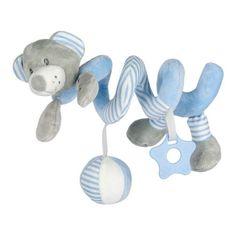 Baby Mix Hračka na postieľku Špirála Baby Mix medveď modrý Modrá