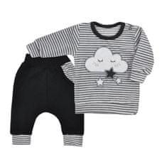 KOALA Dojčenské semiškové tepláčky a tričko Koala Cute Cloud 68 (4-6m) Sivá