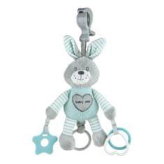 Baby Mix Plyšová hračka s vibráciou Baby Mix králik mätový Zelená