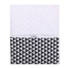 Womar Detská obojstranná deka z Minky Womar 75x100 čierno-biela Čierna