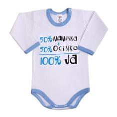 NEW BABY Body s dlhým rukávom so slovenským nápisom New Baby modré 86 (12-18m) Modrá