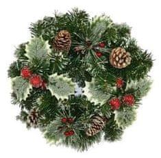 DUE ESSE Vánoční zasněžená dekorace Ø 30 cm