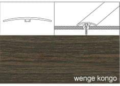 Dimex Prechodové lišty narážacie A64, 4 x 93 cm - wenge kongo