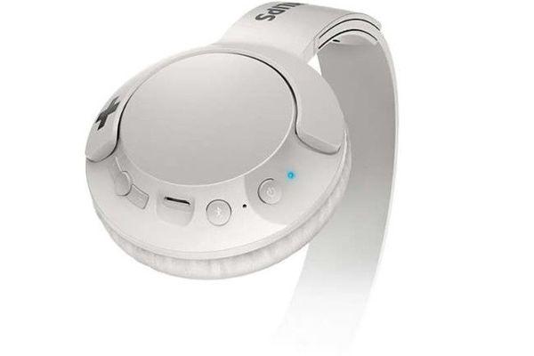 philips shb3075 slúchadlá bezdrôtové Bluetooth 4.1 verzia dosah 10 m usb nabíjací kábel výdrž batérie 12 h basový zvuk 32mm meniče veľmi pohodlná uzavretá konštrukcia handsfree mikrofón
