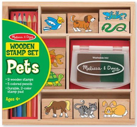 Melissa & Doug drewniane stemple w pudełku - Zwierzęta