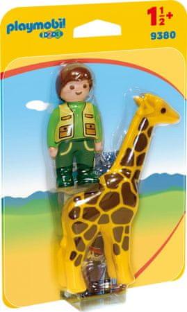 Playmobil Oskrbnik živalskega vrta z žirafo (9380)