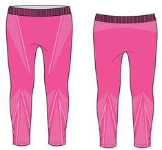 R2 dekliške dolge funkcionalne hlače, roza